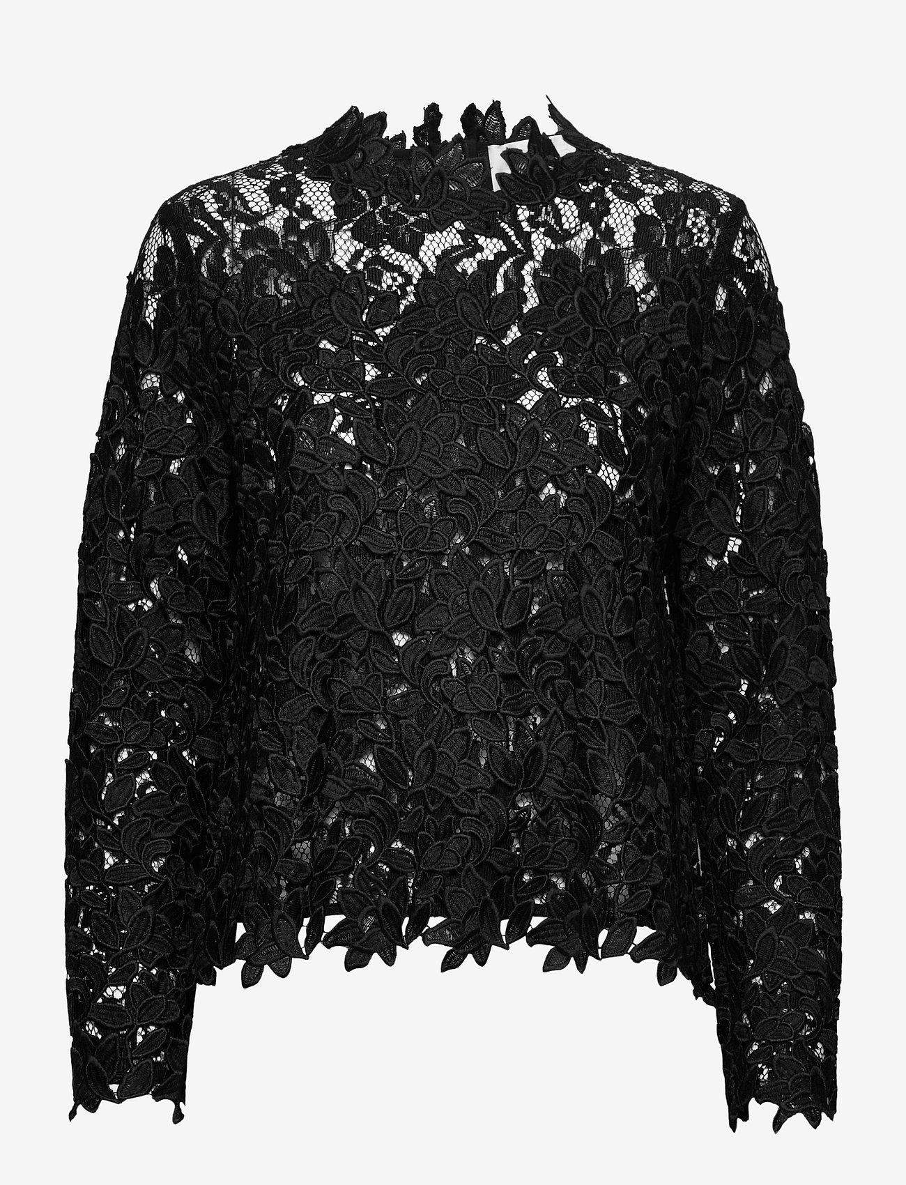 Fall Winter Spring Summer - Ruth Long Sleeve - långärmade blusar - jet black - 0