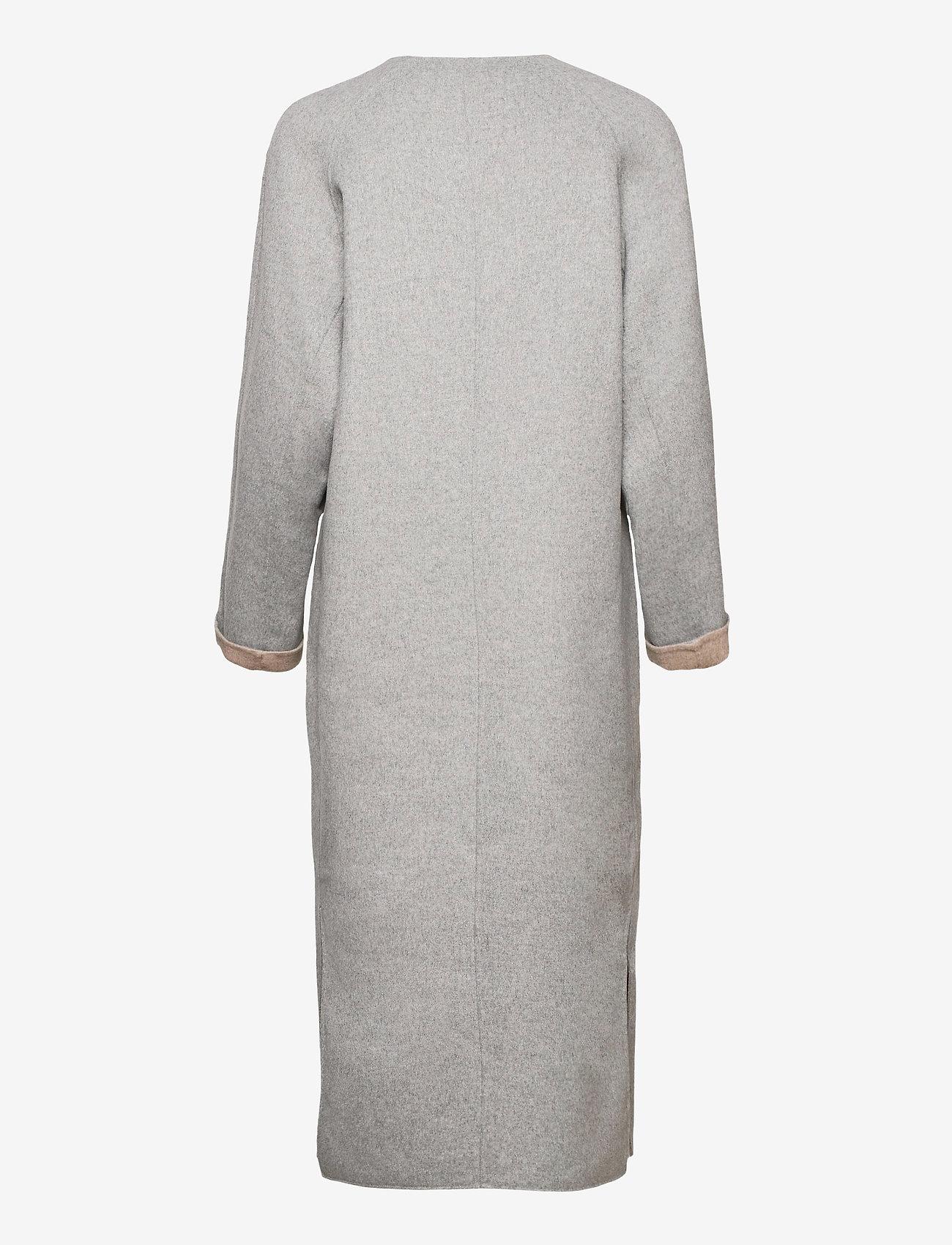 Fall Winter Spring Summer - Wabi Coat - ullkappor - light gray melange - 1
