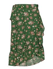 High Pressure Skirt - GREEN ROSES ALL OVER
