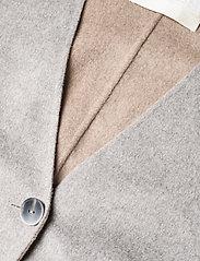 Fall Winter Spring Summer - Wabi Coat - ullkappor - light gray melange - 2