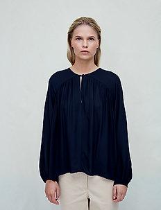 Fatima - long sleeved blouses - jet black