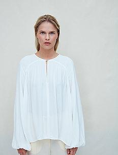 Fatima - long sleeved blouses - jet stream white