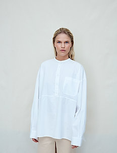 Aagot - long-sleeved shirts - bright white