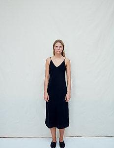 Aida silk - midi dresses - anthracite black