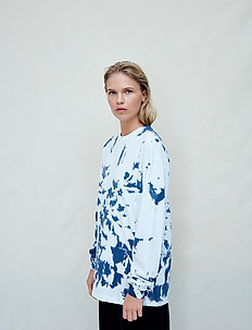 Kelly - long-sleeved tops - blue night tie dye