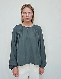 Fatima - long sleeved blouses - beetle green