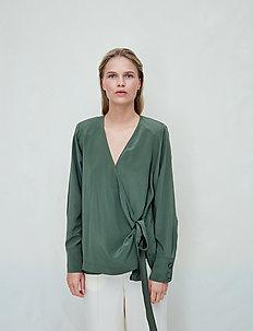 Nicole - long sleeved blouses - beetle green