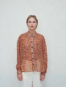 Dagrun Short - long sleeved blouses - pink flowery