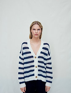 Catharina - cardigans - blue stripe