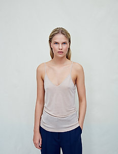 Never said - sleeveless tops - smoke grey nude