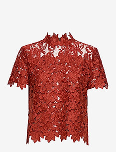 Ruth - short-sleeved blouses - chili oil