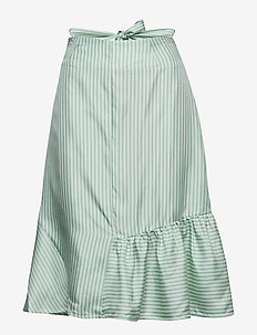 Beate Short - MINT STRIPE