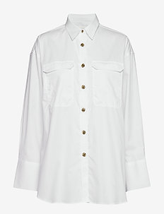 Karine - long-sleeved shirts - bright white