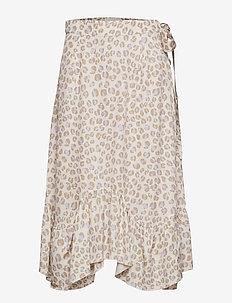 Asbjorg - midi skirts - misty lilac leopard