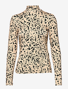 Stay Positive - long-sleeved tops - cuban sand leopard