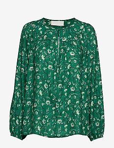 Alina - long sleeved blouses - tabbo garden green