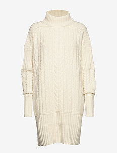 Birthe - knitted dresses - papyrus