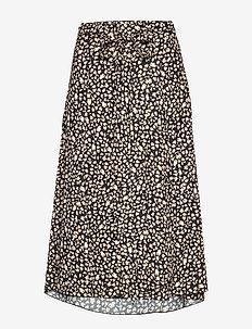 Inger Johanne 2 - midi skirts - black mini leopard