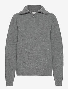 Gimme Some More - turtlenecks - charcoal gray