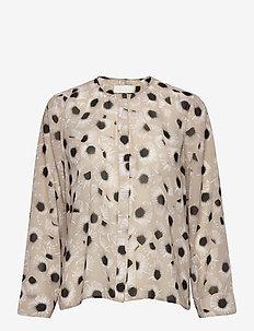 Tonoko Blouse - long sleeved blouses - animal floral creme