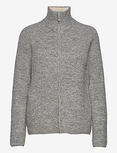 Kaizen Zip Knit - cardigans - light gray