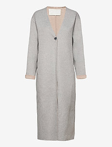 Wabi Coat - uldfrakker - light gray melange