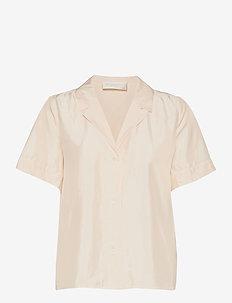 Hong Kong Garden - overhemden met korte mouwen - jet stream white