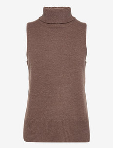 Julie Vest - knitted tops - cocoabrown
