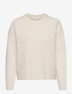 How Long Cable Knit - pullover - jetstreamwhite