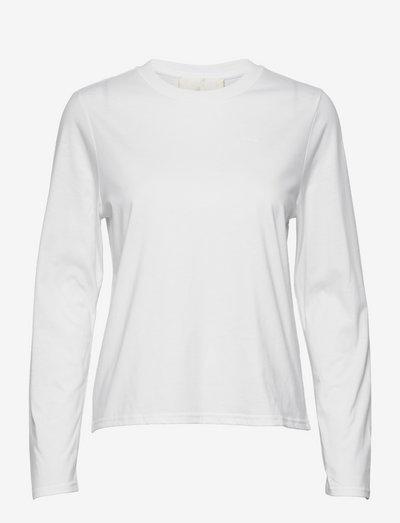 Merete - långärmade toppar - bright white