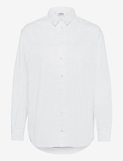 jenny - långärmade skjortor - bright white