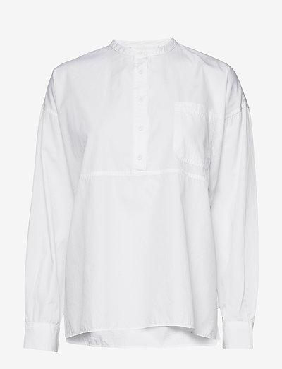 Aagot - långärmade skjortor - bright white