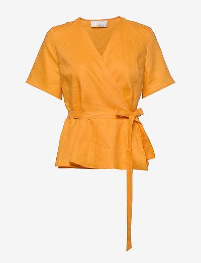 High Pressure Top Linen - kortärmade blusar - kumquat