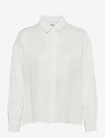 Kristi 2 - långärmade skjortor - jet stream white