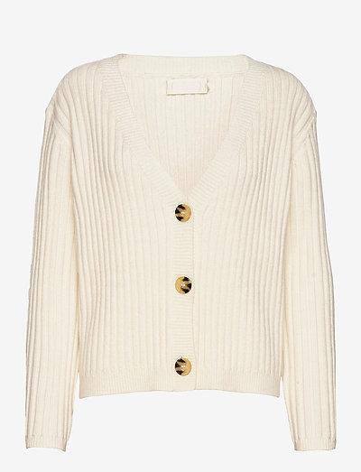 Tsugi Cardigan - koftor - bright white