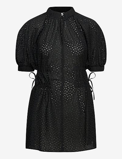 Gitte Broderie Anglaise - skjortklänningar - anthracite black