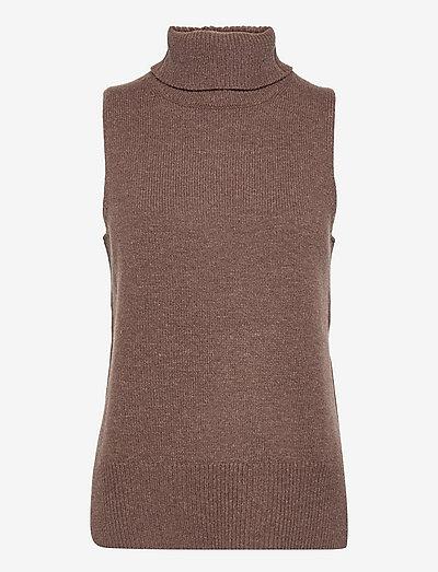 Julie Vest - stickade toppar - cocoabrown
