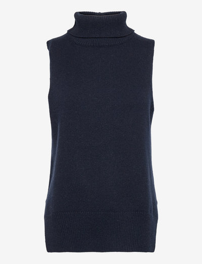 Julie Vest - stickade toppar - navyblazer