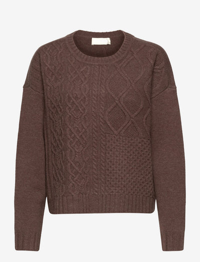 How Long Cable Knit - tröjor - cocoabrown