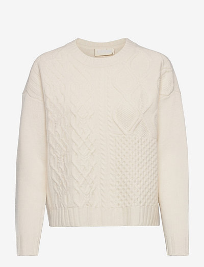 How Long Cable Knit - tröjor - jetstreamwhite