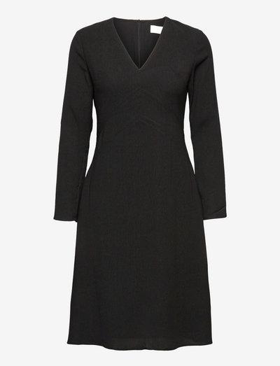 I Don´t Textured Dress - cocktailklänningar - jet black