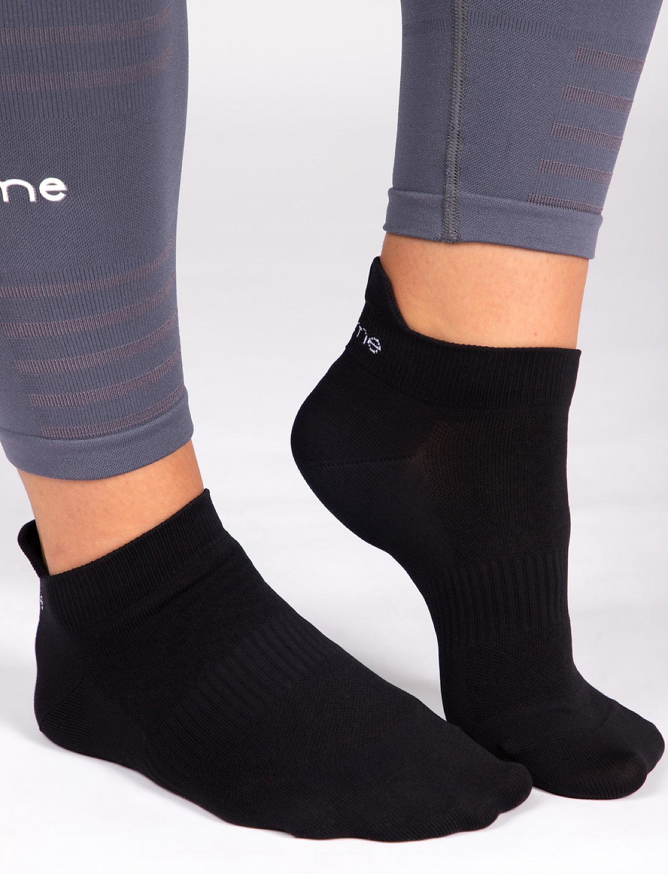 Famme - 2-Pack Black Light Knit Socks - kousen - black - 0