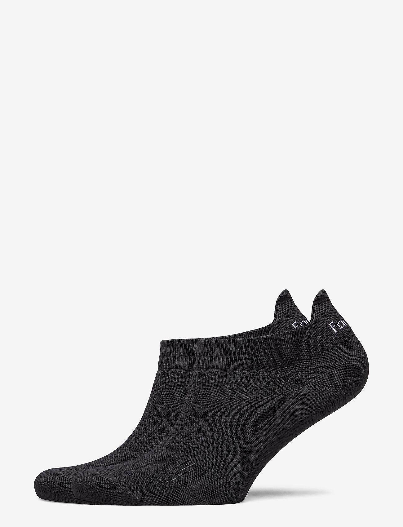 Famme - 2-Pack Black Light Knit Socks - kousen - black - 1