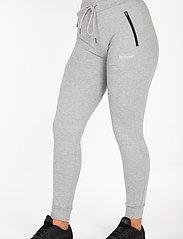 Famme - Black Fit Jogger - træningsbukser - melange grey - 0