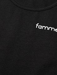 Famme - Pure Crop Top - crop tops - black - 2