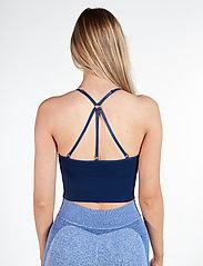 Famme - Blue Power Seamless Top - sort bras:high - navy blue - 3