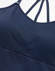 Famme - Blue Power Seamless Top - sort bras:high - navy blue - 5