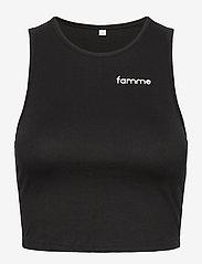 Famme - Pure Crop Top - crop tops - black - 0