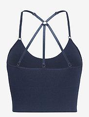 Famme - Blue Power Seamless Top - sort bras:high - navy blue - 2