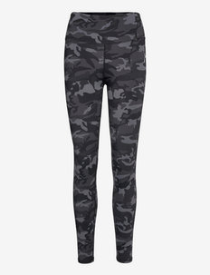 Camouflage Tights - running & training tights - charcoal